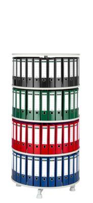 Roterende ordnerzuil, 4 etages, h 1580 mm