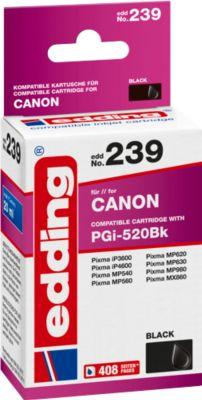 Tintenpatrone edding kompatibel für Canon PGI-520BK, schwarz, 405 Seiten