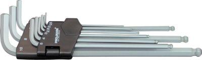 Winkelstiftschlüssel-Satz Projahn, 9-tlg., f. Innen-6kant 1,5-10 mm, etra lang, Chrom-Vanadium-Stahl