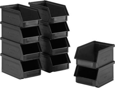 10 Sichtlagerkasten 14/7-5, recycelter Kunststoff