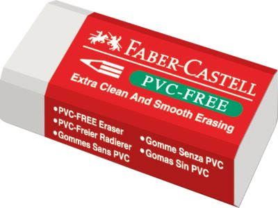 10150714 -Faber-Castell gum PVC-free, extra zacht, wit