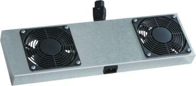 2-fach Aktivlüfter für NT-Box, für vertikale Belüftung, 2 Lüfter, 230 VAC