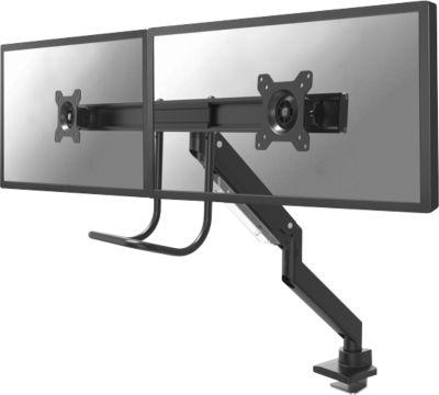 """2-fach-Monitor-Tischhalterung NewStar NM-D775DXBLACK, bis 32"""", neig-/dreh-/schwenkbar, mit Griff"""