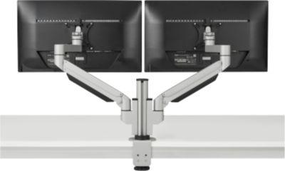 2-fach-Monitorarm BakkerElkhuizen Premium Office Dual, bis 12 kg, Tischklemme, dreh-/höhenverstellb., Kabelführ.