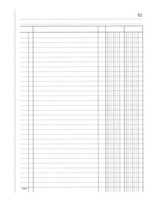 2 Kolonnen-Durchschreibebuch