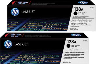 2 x Doppelpack HP Color LaserJet Druckkassetten CE320AD