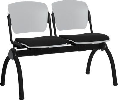 2-zitsbank, excl. tafelblad, grijs/zwart