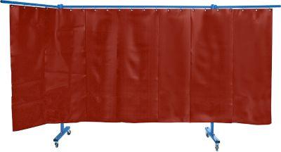 3-del verrijdb.las-beschermwand rood