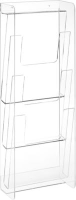 3-fach Wandspender für DIN A4 Prospekte, klar