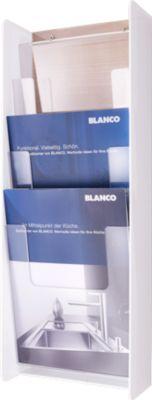 3-fach Wandspender für DIN A4 Prospekte, weiß