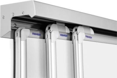 3-Kanal-Wandschiene Pro-Serie,Aluminium, inkl. Schutzschiene, 3000 mm