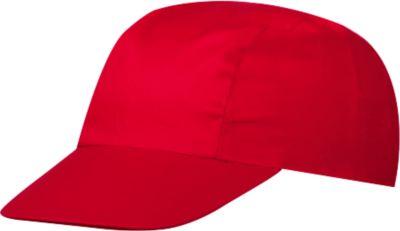 3 Panel Promo Cap, inkl. 1-farbiger Werbedruck & Grundkosten gratis, One-Size Größe, signal-red