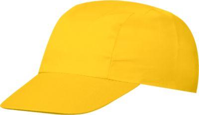 3 Panel Promo Cap, inkl. 1-farbiger Werbedruck & Grundkosten gratis, One-Size Größep, gold-yellow