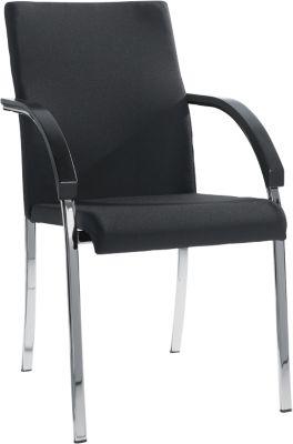4-potige stoel Riva, stof zwart