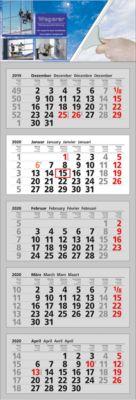 5 Block-Wandkalender Clever 5, inkl. 4c-Digitaldruck, international