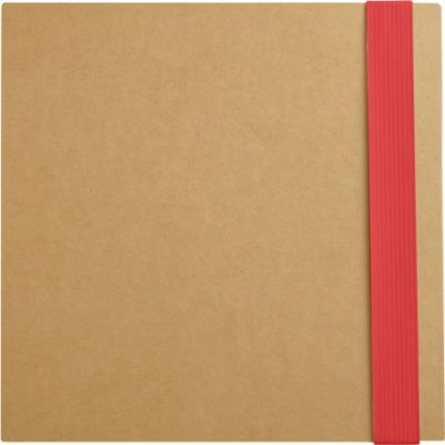5-in-1 Notizbuch, mit Klebezetteln, Markerblöcken, Kugelschreiber, Blankopapier-Block, rot