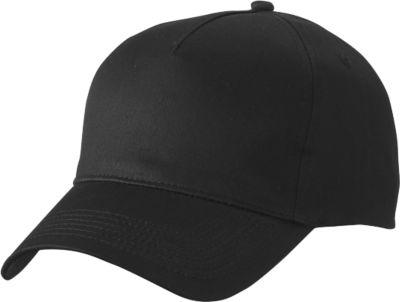 5 Panel Cap, black