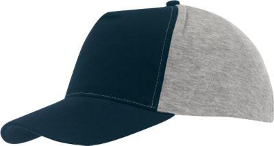 5 Panel-Cap Up to Date, dunkelblau/grau