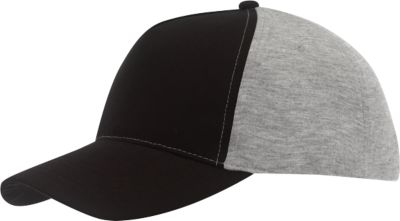 5 Panel-Cap Up to Date, schwarz/grau