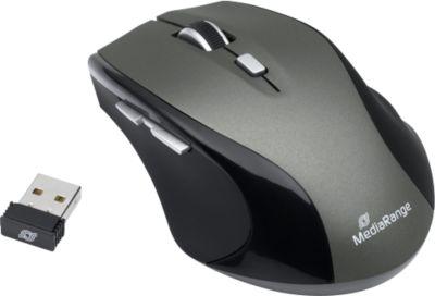 5-Tasten Funkmaus MediaRange MROS203, kabellos, Scrollrad, Anschluss über USB 2.0