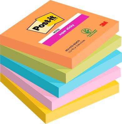 6546SE Post- it® Super Sticky Z- Notes Bangkok, 76 mm x 76 mm, 1 pak van 6 blokken van 90 blaadjes