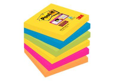 6546SR Post-it® Super Sticky Z- Notes, Rio de Janeiro, 76 x 76 mm,1 pak van 6 blokken van 90 vellen