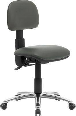764 industriële stoel, PVC-bekleding, grijs