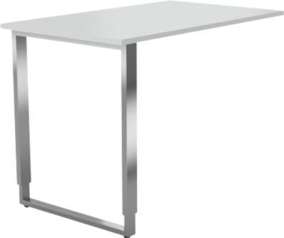 Aanb.bur.tafel m.sledeframe Axxeto, b 1000 x d 600 x h 680-820 mm, l.grs