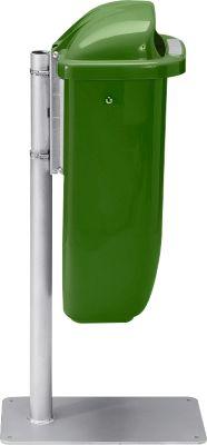 Aanbieding: afvalbak + staander, groen