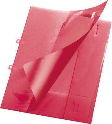 Aanbiedingsmap Kristal, DIN A4 formaat, PP kunststof, afsluitbaar, rood, DIN A4 formaat.