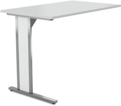 Aanbouw-bur.tafel C-frame Axxeto, b 1000 x d 600 x h 750 mm, lichtgrijs