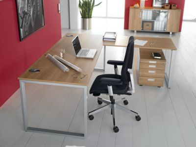 SINCERO LINE aanbouwtafel, slede-onderstel, rechthoekig, b 1200 x d 600 mm, wit/grafiet