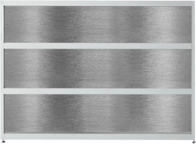 Aanbouwbalie Tool, recht, (bxdxh) 1470 x 850 x 1100 mm, antraciet/edelstaalafwerking