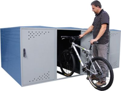 Aanbouwdeel met zijwand voor fietskluis BikeBox 1 B met gebogen dak