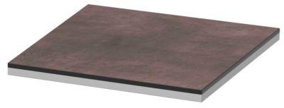 Abdeckplatte TEQSTYLE, Kanten 2-farbig, B 400 mm, Quarzit