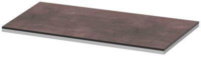 Abdeckplatte TEQSTYLE, Kanten 2-farbig, B 800 mm, Quarzit