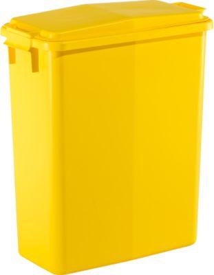 Abfallbehälter 60 l + Deckel gelb