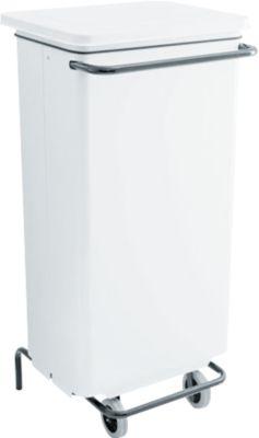 Abfallbehälter Conticolor, mit Pedal, Inhalt 110 Liter, weiß
