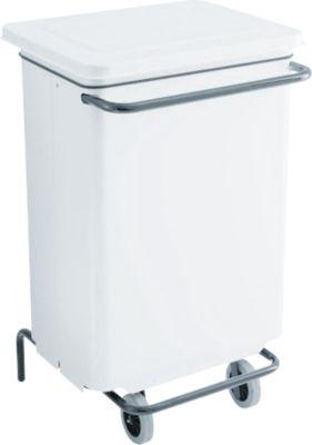 Abfallbehälter Conticolor, mit Pedal, Inhalt 70 Liter, weiß