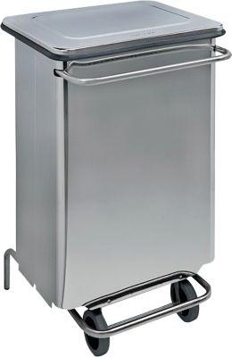 Abfallbehälter Contimar, mit Pedal, fahrbar, Fassungsvolumen 70 L
