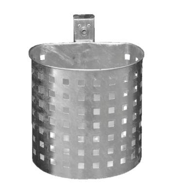 Abfallbehälter, gelocht, verzinkt