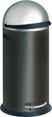 Abfallbehälter Trento Kick Visier, schwarz