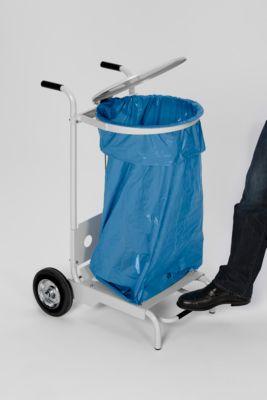 Abfallsammler mit Fußpedal, pulverbeschichtet, 2 Rollen
