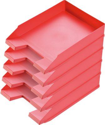 Ablagekorb Economy, DIN C4, 5 Stück, rot