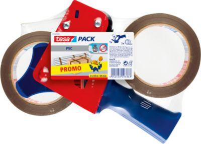 Abroller + 2 Packbänder, braun