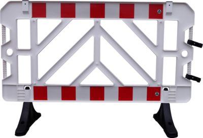 Absperrgitter 2er Set, 1000 x 1500 mm, weiß-rot