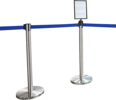Absperrpfosten, 2 Stück + Tafel, blau
