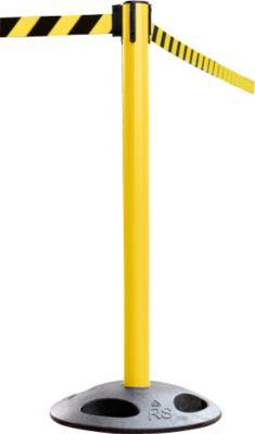 Absperrpfosten RS-Guidesystems GLA 25, gelb, Gurt schwarz/gelb, 2 Stück