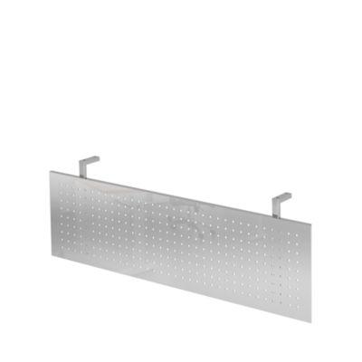 Achterwand voor bureautafel b 1200 mm, verchroomd
