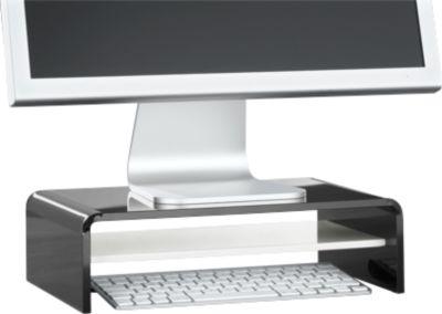 Acryl-Medienträger U-Form mit Boden, 350 x 230 x 100 mm, schwarz/weiß